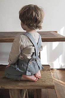 Detské oblečenie - Detské ľanové nohavice na traky - 9589790_