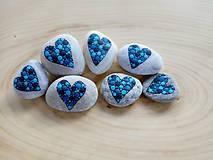 Dekorácie - Keď láska zmodrie - Na kameni maľované - 9588538_