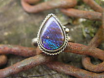 Prstene - Strieborny prsteň Ag925 Ammolit - 9589878_