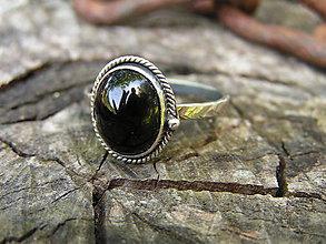 Prstene - Strieborny prsteň Ag 925 Ónyx - 9589800_