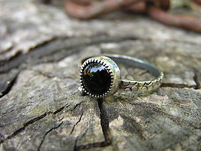 Prstene - Strieborny prsteň Ag 925 Ónyx - 9589817_