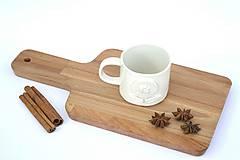 Nádoby - Porcelánová espresso šálka Kvet - 9588917_