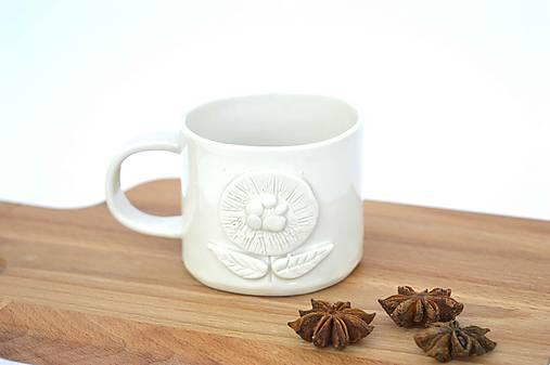 Porcelánová espresso šálka Kvet