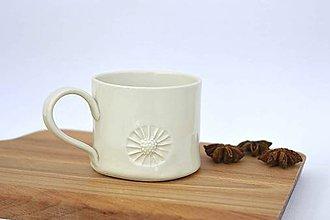 Nádoby - Porcelánová šálka Kvietok - 9588564_
