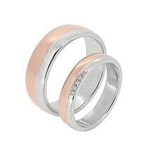 Prstene - Ružovo - biele obrúčky - 9588500_