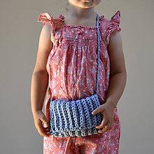 Detské tašky - Kabelôčka...modrá - 9589711_
