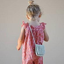 Detské tašky - Kabelôčka...mentolová - 9590673_