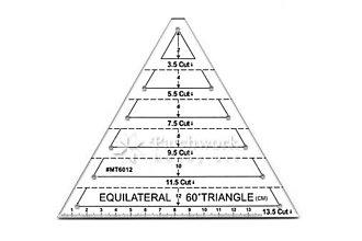 Pomôcky/Nástroje - Trojuholníkové patchworkové pravítko 60º - 9588497_