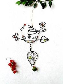 Dekorácie - cinkajúci vtáčik* 15 cm - 9587826_