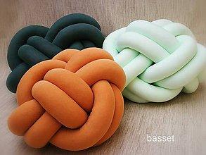 Úžitkový textil - Pletený vankúš - 9588515_
