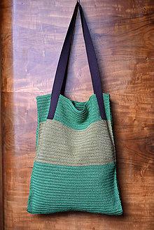 Nákupné tašky - Háčkovaná nákupná taška - 9591671_