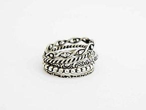 Prstene - sada strieborných prsteňov Treasure - 9593770_