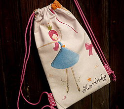 Batohy - vrecko na chrbát - princezna v modrom - 9591463_