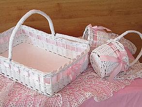 Košíky - Košíky- Svadobná súprava ružovkastá II - 9592632_