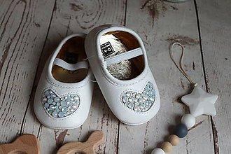 Topánočky - capačky srdiečka (srdce veľké) - 9592841_