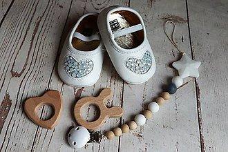 Topánočky - darčekový set pre dieťatko (Biela) - 9592861_