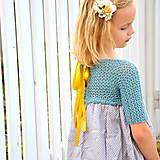 Detské oblečenie - šaty MY LADY lake - 9593332_