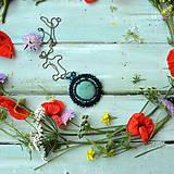 Náhrdelníky - Tyrkysový n.2 - šitý náhrdelník - 9591577_