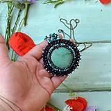 Náhrdelníky - Tyrkysový n.2 - šitý náhrdelník - 9591579_