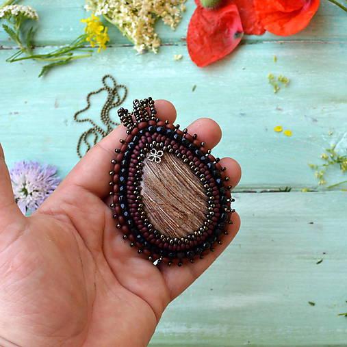 Jaspisový n.7 - šitý náhrdelník