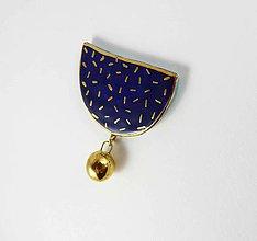Odznaky/Brošne - Tana šperky - keramika/zlato - 9591530_