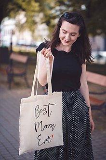 Nákupné tašky - Taška best mom ever - 9593048_