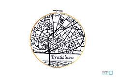 Dekorácie - VYŠIMA - súprava na vyšívanie Bratislava - 9593009_