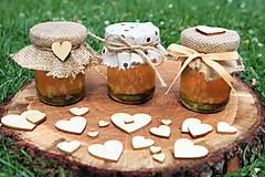 - Zdobený medík - svadobný minimedík (50 gramovy) - 9594388_