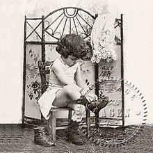 Papier - Sagen kolekcia dievčatko a topánky - 9591651_