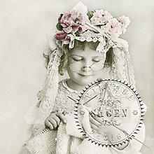 Papier - Sagen kolekcia dievčatko štrikuje - 9592067_