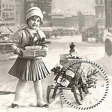 Papier - Sagen kolekcia dievčatko a darčeky - 9592089_