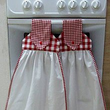 Úžitkový textil - Červené káro - dekoračné utierky - 9593238_
