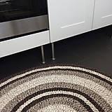 Úžitkový textil - Ručne šitý okrúhly koberec _01 - 9592587_