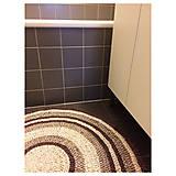Úžitkový textil - Ručne šitý okrúhly koberec _02 - 9592623_
