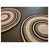 Úžitkový textil - Ručne šitý okrúhly koberec _02 - 9592628_