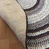 Úžitkový textil - Ručne šitý okrúhly koberec _02 - 9592629_