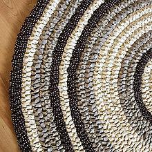 Úžitkový textil - Ručne šitý okrúhly koberec _02 - 9592619_