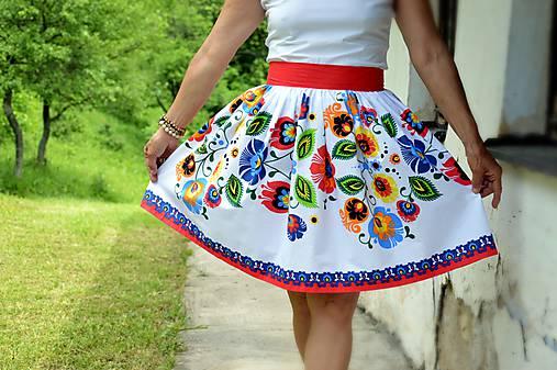 Sukne - Dámska sukňa Veľké kvety - 9594639_