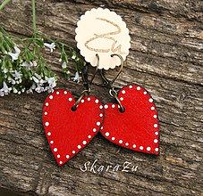 Náušnice - Simple red heart - 9594218_