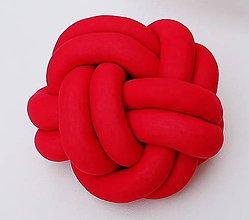 Úžitkový textil - Pletený vankúš - 9591601_