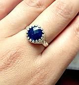 Vintage Sapphire Silver Ring Ag 925 / Strieborný prsteň so zafírom /0191