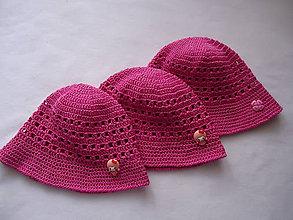 Detské čiapky - Staroružový klobúčik 2 - 9596644_