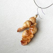 Náušnice - Dubové - drevené náušnice - 9596238_