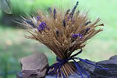 Dekorácie - Sušená kytička s levanduľou - 9596073_