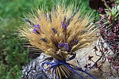 Dekorácie - Sušená kytička s levanduľou - 9596077_