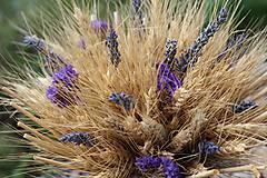 Dekorácie - Sušená kytička s levanduľou - 9596078_