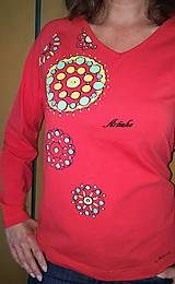 Tričká - Tričko maľované - mandalky  - 9595176_