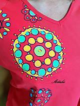 Tričká - Tričko maľované - mandalky  - 9595177_