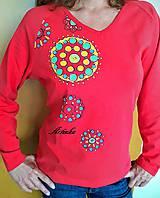 Tričká - Tričko maľované - mandalky  - 9595182_