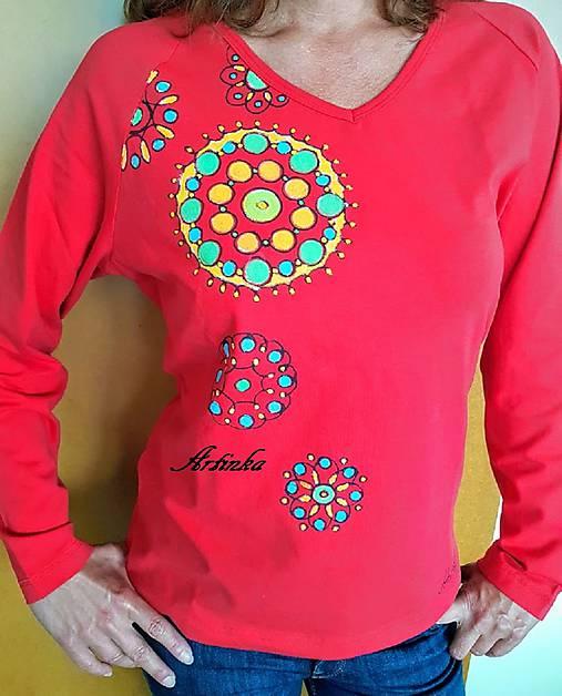 Tričko maľované - mandalky